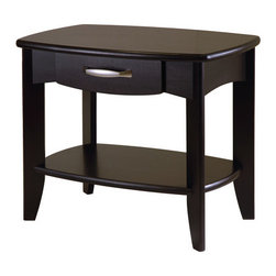 Winsome - Danica End Table - Features: -Danica collection. -Dark Espresso finish. -Solid and composite wood construction.