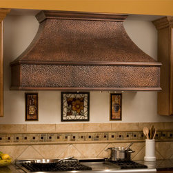 """54"""" Tuscan Series Copper Wall-Mount Range Hood - Add some stunning style to your kitchen with the 54"""" Tuscan Series Copper Range Hood. This kitchen exhaust is offered with or without a blower to be the perfect fit for your kitchen."""