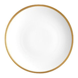 "L'Objet - L'Objet Soie Tressee Gold Charger - The braid made modern, Soie Tressee offers a distinct, contemporary take on an ancient shape. Limoges porcelain available in White, hand-gilded 24K Gold, or Platinum. Limoges Porcelain. 24K GoldDimensions: 12.5"" L'Objet is best known for using ancient design techniques to create timeless, yet decidedly modern serveware, dishes, home decor and gifts."