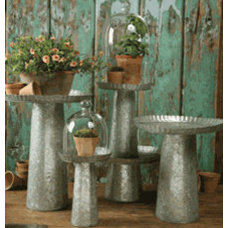 Contemporary Outdoor Pots And Planters by Maureen Stevens