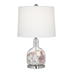 glass gourd fillable table lamp this fillable glass table lamp. Black Bedroom Furniture Sets. Home Design Ideas