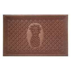 Entryways - Pineapple Weather Beater Polypropylene Mat 22 in. x 35 in. - This distinctive design from Entryways Weather Beaters collection combines two characteristics that make it an ideal floor or door mat. Crafted to meet the industry's highest standards, it is rugged enough to trap rain, snow, dirt and debris. Yet it is also designed to add classic sophistication to any decor.