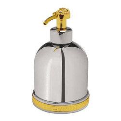 Versace - Versace Classic Chrome Gold Liquid Soap Dispenser - Versace Liquid Soap Dispenser