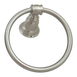 Barrington Towel Ring - Barrington towel ring in satin nickel.