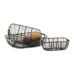 Tabletop Wire Baskets - Pack of 3
