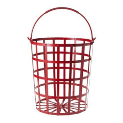 Threshold Decorative Metal Basket, Red - Place this metal basket near the tree to corral smaller gifts.