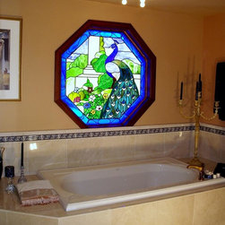 Stained Glass Bathroom Windows - David Wixon & Associates, Inc.