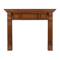 Gloucester Fireplace Mantel - The Gloucester Fireplace Mantel adds to the warmth of any room with its fluted side panels topped with hand carved scrollwork and raised top panel accents.