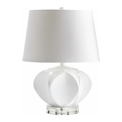 Modern Glossy White Table Lamp - *Moza Table Lamp