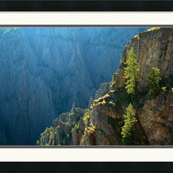 Amanti Art - Black Canyon Morning Framed Print by Andy Magee - Steadfast Pinon Pines rise from the rocks of the Colorado Black Canyon, whether taken as an image of beauty or a metaphor for determination, this photograph would make a great addition to your home or office.