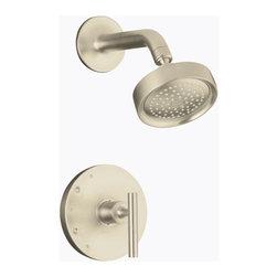KOHLER - KOHLER K-T14422-4-BN Purist Rite-Temp Pressure-Balancing Shower Faucet Trim - KOHLER K-T14422-4-BN Purist Rite-Temp Pressure-Balancing Shower Faucet Trim with Lever Handle in Brushed Nickel