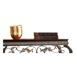 Holly and Martin - Capshaw Console/Mirror/Sconce Pair 4pc Set - Complete your home with this elegantly coordinated set. This console table and corresponding accents offer classic beauty and enrich any room with purpose.