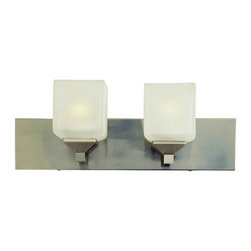 """Trans Globe Lighting - Trans Globe Lighting 2802 Two Light Down Lighting 18"""" Wide Bathroom Fixture - Two light down lighting bathroom fixture featuring frosted glassRequires 2 100w Medium Base Bulbs (Not Included)"""