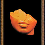 Amanti Art - Pharaohs of the Sun: Fragment of a Head of a Queen Framed Print - One of the most popular figures in art through the ages, Queen Nefertiti has been the subject of sculptures, paintings and more for centuries.