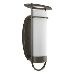 Progress Lighting - Progress Lighting P5819-20EE Soul 1 Light Outdoor Wall Lantern P5819-20EE - Cylindrical glass shade encircled with metal framework.ADA Compliant: No Bulb Included: No Bulb Type: Fluorescent Collection: Soul DarkSky: No Depth: 6 Energy Star Compliant: No Finish: Antique Bronze Glass: Umber Tea Height: 19-3 4 Height to Center: 9-7 8 Light Direction: Ambient Lighting LowVoltage: No Motion Sensor: No Number of Lights: 1 Photocell: No Shade Material: Glass Shade Shape: Cylinder Socket base: GU24 Solar: No Style: Contemporary Soft Suggested Room Fit: Outdoor Title 22: No Title 24: Yes Wattage: 26 Weight: 7 Width: 12