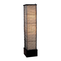 """Kenroy Home - Asian Kenroy Home Trellis Portable Outdoor Floor Lamp - This handsome design will bring style to patios porch areas and more. The Trellis outdoor floor lamp is UL rated for wet locations and is made from all-weather fabrics and rustproof materials. A water-tight shield surrounds the bulb and the weighted base prevents it from tipping over in heavy winds. The base has woven mesh around a center column. On-off weatherproof switch. Design by Kenroy Home. Takes two 100 watt bulbs (not included). 51"""" high. 9"""" wide.  Trellis outdoor floor lamp.  UL rated for wet locations.  All-weather fabrics and rustproof materials.  Perfect for patios and gradens  Weighted base.  Woven mesh.  On-off weatherproof switch.  Takes two 100 watt bulbs (not included).   51"""" high.   9"""" wide."""