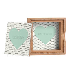 DENY Designs - Allyson Johnson Hello Beautiful Heart Storage Box - Love yourself a knickknack or two (or three)? Well, then this is the box for you! The Amber Bamboo wooden Storage Box is available in two sizes with a printed exterior lid and interior bottom. So, you can still be a collector of sorts, but now you've got an organized home for it all. 100% sustainable, eco-friendly flat grain amber bamboo wood box with printed glossy exterior lid and interior bottom. Custom made in the USA for every order.
