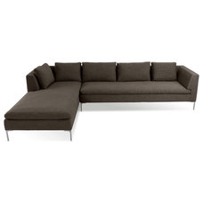 Modern Sectional Sofas Mayfair Grey-Brown Sectional Couch (R)