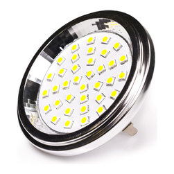LED AR111 Lamp with 36 High Power SMD LEDs - AR111-x36SMD series flood light replacement bulb for traditional G53 base lamps. Consumes 6 Watts of power using 36 high power 5050 SMD LEDs. Available in Cool White or Warm White with 120° beam angle.