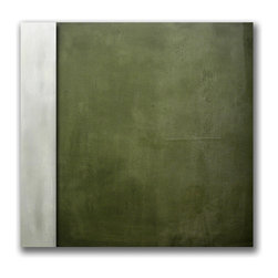 "Original - Modern Contemporary Art - Original by Mahlstedt Gallery - ""Olive Square"" - Mahlstedt Gallery Bespoke Collection"