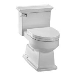 Toto - Toto MS934214EF#01 Cotton White Eco Lloyd One Piece Toilet, 1.28 GPF - The sharp, sleek lines and modern styling of the Lloyd collection brings a uniform, sophisticated style to your bath.