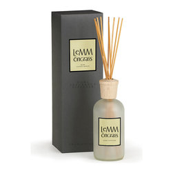 Lemongrass A.B. Home Room Diffuser - 16 oz. - Subtly citrus and completely lovely, the herbally scented Lemongrass diffuser's zesty and light fragrance is a fantastic choice when you want an aroma that is not too heavily perfumed and will give off the ideal amount of fragrance to fill a powder room or kitchen area.