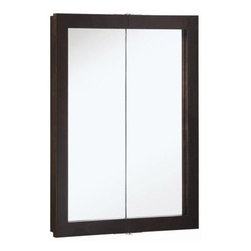 DHI-Corp - Ventura Espresso Bi-View Medicine Cabinet Mirror with 2-Doors and 2-Shelves - The Design House 541334 Ventura Espresso Bi-View Medicine Cabinet Mirror features a durable espresso finish, (2) shelves and particle board side panels. With 2-doors, this medicine cabinet measures 30-inches by 24-inches by 6-inches. The doors glide open revealing shelves to store shampoo, medicine and makeup. Use this mirror for shaving or applying makeup in the morning. This product comes pre-assembled and is CARB compliant, which means it adheres to the toughest production standards in the world for formaldehyde emissions (in wood composite paneling). The Design House 541334 Ventura Espresso Bi-View Medicine Cabinet Mirror has a 1-year limited warranty that protects against defects in materials and workmanship. Design House offers products in multiple home decor categories including lighting, ceiling fans, hardware and plumbing products. With years of hands-on experience, Design House understands every aspect of the home decor industry, and devotes itself to providing quality products across the home decor spectrum. Providing value to their customers, Design House uses industry leading merchandising solutions and innovative programs. Design House is committed to providing high quality products for your home improvement projects.