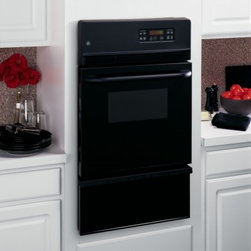 """GE - JGRP20BEJBB 24"""" Single Gas Wall Oven with 2.8 cu. ft  Self-Clean  Storage Drawer - Although the number of gas ovens manufactured is on the decline GE unlike many other companies continues to offer a small selection of them Of this selection the JGRP20 offers the most sophisticated features It is a well-built attractive oven that ca..."""