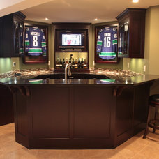 Traditional Home Theater by JMV Woodworks
