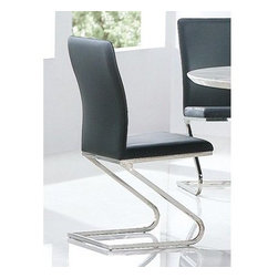 Armen Living Rondo Leatherette Side Chair - Black - Set of 2 - Built from stainless steel and upholstered in black faux leather, the Armen Living Rondo Leatherette Side Chair - Black - Set of 2 makes a durable and modern addition to your dining room. Add these chairs to your own table, or add the Rondo dining table (sold separately) to complete the set.About Armen LivingImagine furniture without limits - youthful, robust, refined, exuding self-expression at every angle. These are the tenets Armen Living's designers abide by when creating their modern furniture collections. Building on more than 30 years of industry experience, Armen Living combines functional versatility and expert craftsmanship into their dramatic furniture styles, all offered at price points fit for discriminating budgets. Product categories include bar stools, club chairs, dining tables, ottomans, sofas, and more. Armen Living is based in Sun Valley, Calif.