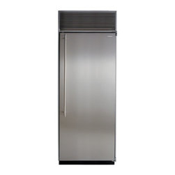 """Marvel - M30AFSSR 30"""" Built-in Upright Freezer with Stainless Steel Interior  10 Stainles - If you prefer a separate freezer this handsome 30 wide column delivers superior storage The adjustable shelving and storage bins daylight interior lighting perforated FreshFlo stainless steel shelving and the exclusive MARVEL cooling system are some ..."""