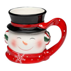 ATD - 4.25 Inch White, Black and Red Smiling Snowman Collectible Mug - This gorgeous 4.25 Inch White, Black and Red Smiling Snowman Collectible Mug has the finest details and highest quality you will find anywhere! 4.25 Inch White, Black and Red Smiling Snowman Collectible Mug is truly remarkable.