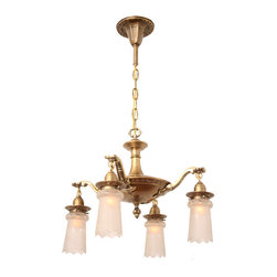 Circa 1915, Four Light, Pan With Edwardian Urn Arms, Embossed Shade Holders And - Antique Ceiling Fixture Circa 1915, Four Light, Pan With Edwardian Urn Arms, Embossed Shade Holders And Antique Cut Glass Shades. Antique Brass Finish. - See more at: http://toclighting.com/makehtm.php?lampnum=ac1397ab#sthash.tFT7FqSy.dpuf