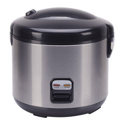 Rice Cooker with Stainless Body, 10-Cup