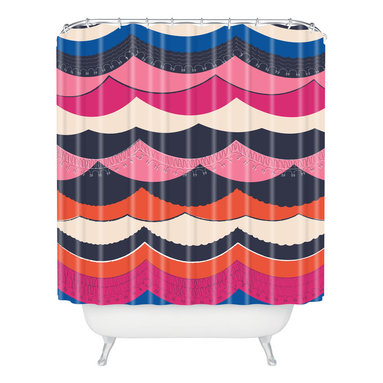 DENY Designs - Vy La Unwavering Love Shower Curtain - Who says bathrooms can't be fun? To get the most bang for your buck, start with an artistic, inventive shower curtain. We've got endless options that will really make your bathroom pop. Heck, your guests may start spending a little extra time in there because of it!