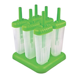 Tovolo Groovy Pop Molds Green - Get ready for a fun frozen treat! The kids will enjoy these Tovolo groovy shaped pop molds (the adults can sneak one too we won't tell!). Use juice soda sports drinks or your favorite mix to create healthy money saving ice pops in your own freezer.