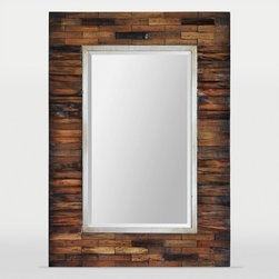 Ren-Wil - Ren-Wil Pretoria Rectangular Wall Mirror - 30W x 42H in. - MT1436 - Shop for Mirrors from Hayneedle.com! Made of exotic dark brown pear wood the Ren-Wil Pretoria Rectangular Wall Mirror - 30W x 42H in. reflects your eclectic taste. This piece features a champagne silver inner frame and beveled mirror for added sparkle. It's backed with engineered wood for added durability. The hanging hardware makes it easy to install. About Ren-WilFor over 45 years Ren-Wil has been creating quality wall decor mirrors and lighting that enhances any space. The company's talented team of in-house artists travels the world to find the newest materials fashions and trends and then applies them to their work. The team also uses multi-media designs for many of their pieces. Ren-Wil is the leader in Alternative Wall Decor and is the market leader in Canada. They thrive on offering a fresh innovative product line and superior customer service.