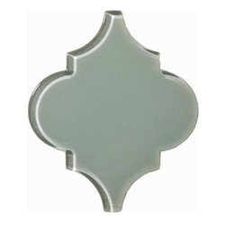 Arabesque- Glass- French Blue - Sample - Arabesque- Glass- French Blue- Sample