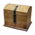 Accessory Box, Tuscan Moss & White Scrolls - Accessory Box, Tuscan Moss & White Scrolls