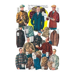 """Buyenlarge.com, Inc. - Men's Shirts, Sweaters, and Wind Breakers- Gallery Wrapped Canvas Art 28"""" x 42"""" - Another high quality vintage art reproduction by Buyenlarge. One of many rare and wonderful images brought forward in time. I hope they bring you pleasure each and every time you look at them."""