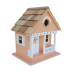 Home Bazaar - Starfish Cottage Birdhouse, Beige - Treat the birds in your backyard to a beach house of their own. This starfish-themed cottage in goes-with-everything beige is sure to attract chickadees, nuthatches, wrens and titmice — who will delight you with their songs and colors all season long.