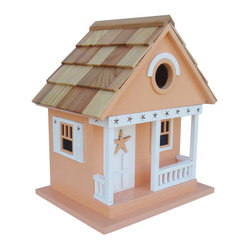 Home Bazaar - Starfish Cottage, Beige - Treat the birds in your backyard to a beach house of their own. This starfish-themed cottage in goes-with-everything beige is sure to attract chickadees, nuthatches, wrens and titmice — who will delight you with their songs and colors all season long.