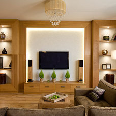 modern media room by Natalia Skobkina