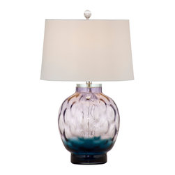 Bassett Mirror Company - Bassett Mirror Pinot Table Lamp - Purple Shaped Glass - Pinot Table Lamp - Purple Shaped Glass - L2698T.  Product features: . Product includes: Lamp (1). Pinot Table Lamp - Purple Shaped Glass belongs to MidCentury Groove Collection by Bassett Mirror Company.