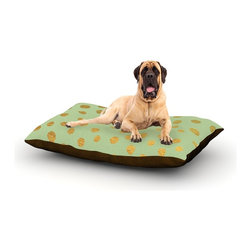 "Kess InHouse - Nika Martinez ""Golden Dots and Mint"" Green Gold Fleece Dog Bed (50"" x 60"") - Pets deserve to be as comfortable as their humans! These dog beds not only give your pet the utmost comfort with their fleece cozy top but they match your house and decor! Kess Inhouse gives your pet some style by adding vivaciously artistic work onto their favorite place to lay, their bed! What's the best part? These are totally machine washable, just unzip the cover and throw it in the washing machine!"