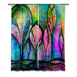 """DiaNoche Designs - Window Curtains Lined by Robin Mead - After the Rain - DiaNoche Designs works with artists from around the world to print their stunning works to many unique home decor items.  Purchasing window curtains just got easier and better! Create a designer look to any of your living spaces with our decorative and unique """"Lined Window Curtains."""" Perfect for the living room, dining room or bedroom, these artistic curtains are an easy and inexpensive way to add color and style when decorating your home.  This is a woven poly material that filters outside light and creates a privacy barrier.  Each package includes two easy-to-hang, 3 inch diameter pole-pocket curtain panels.  The width listed is the total measurement of the two panels.  Curtain rod sold separately. Easy care, machine wash cold, tumble dry low, iron low if needed.  Printed in the USA."""