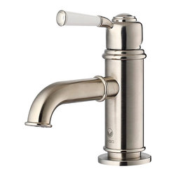 Vigo Boreas Brushed Nickel Single Handle Bathroom Faucet - I love this faucet. It's a bit classic but also a bit industrial looking.