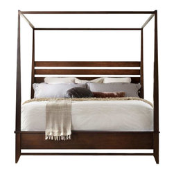 Hooker Furniture - Hooker Furniture Lorimer Poster Bed in Warm Brown-Queen - Hooker Furniture - Beds - 506590650 - Lorimer Collection: