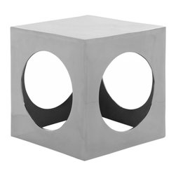 Safavieh - Francoise Stool - What's your angle? Because modern life necessitates form and function, the Francoise cube aluminum stool reflects both. Its stunning silver polished aluminum finish complements the clean geometric forms. Seductive in its simplicity, its classic shape is a welcome addition to modem and contemporary decor.