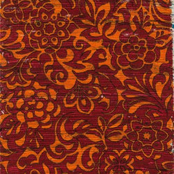 "Loloi Rugs - Loloi Rugs Aria Collection - Red / Orange, 1'-8"" x 3' - Expressive and relaxed, stylish and fun. The Aria Collection from India has it all. Pretty paisley patterns, flourishing flowers, dreamy damasks and magical medallion designs are printed onto 100% recycled cotton Chindi for scatter rugs that are flirty and fashionable. Dressed in a palette of bold, saturated colors that take you from cool blues and pinks to warm spice tones and modern tropical hues, too, Aria rugs come in select scatter sizes that will accent choice spaces with flair."